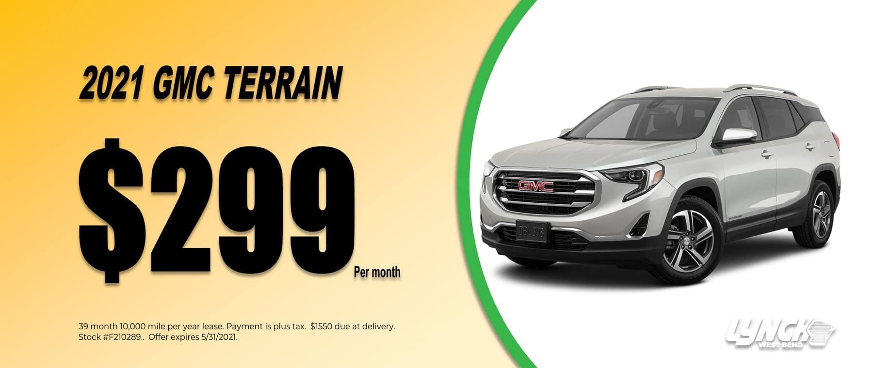 2021 GMC Terrain $299 per month in West Bend Wisconsin