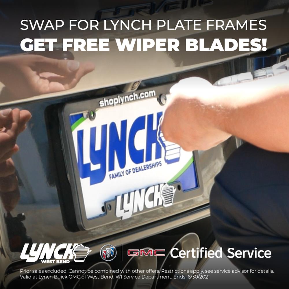 Add Lynch Plate Frame, Get $10 GIFT CERTIFICATE