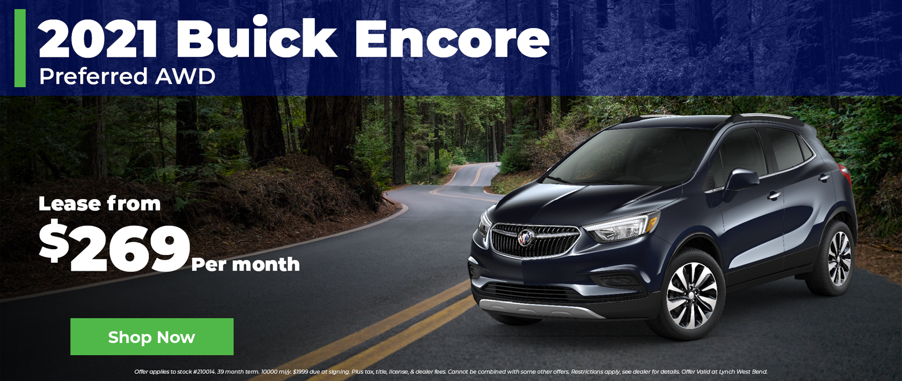 2021 Buick Encore $269 per month in West Bend Wisconsin