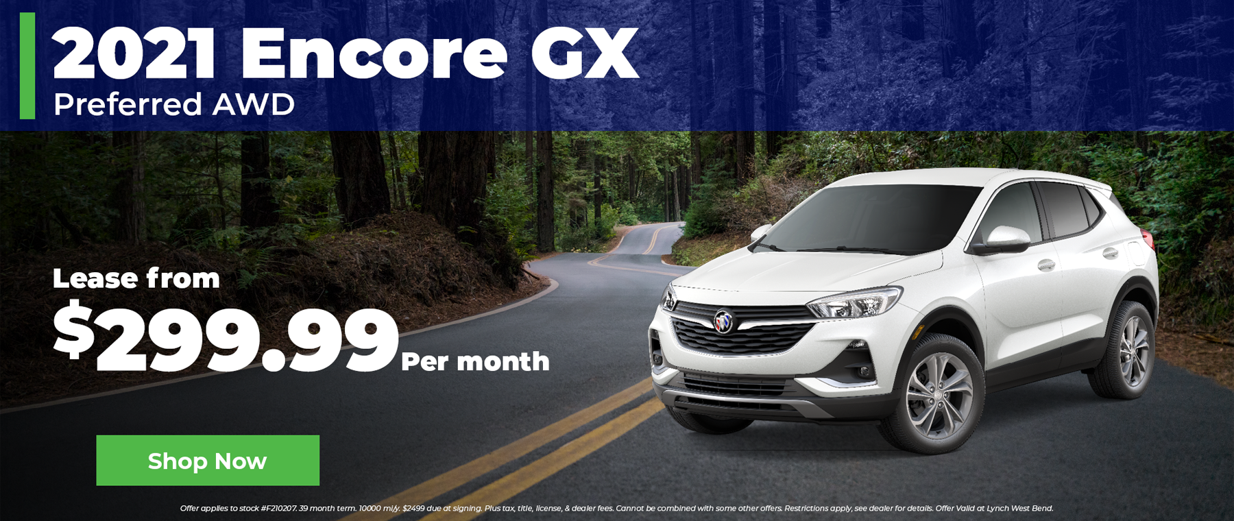 2021 Buick Encore GX $299 per month in West Bend Wisconsin