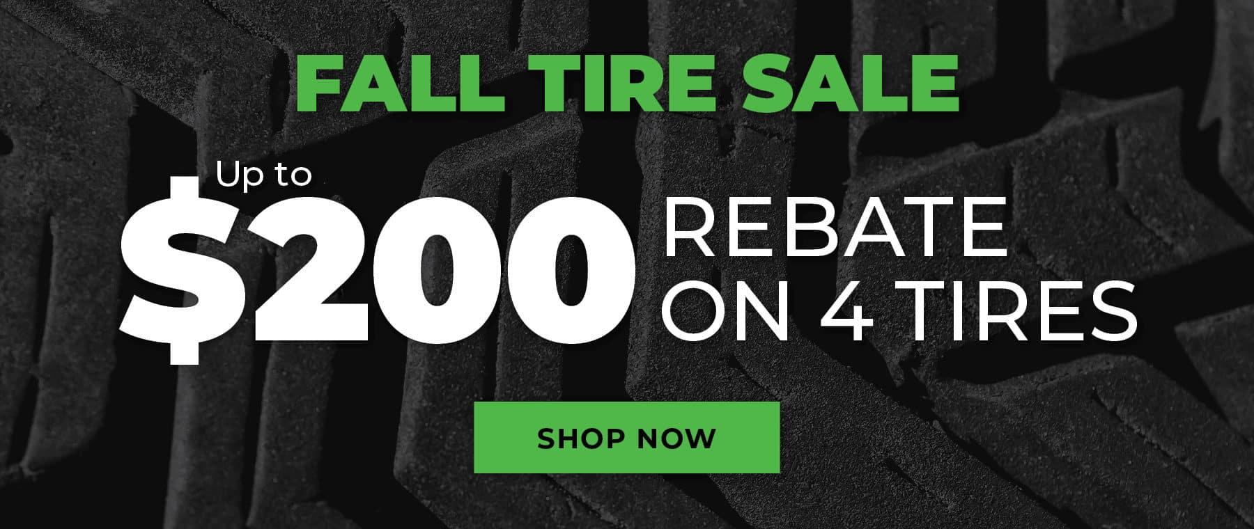 Fall Tire Sale