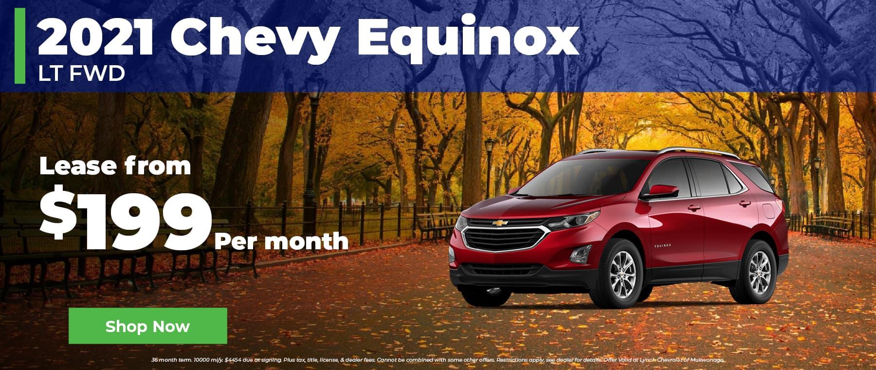 2021 Chevy Equinox $199 per month in Mukwonago WI