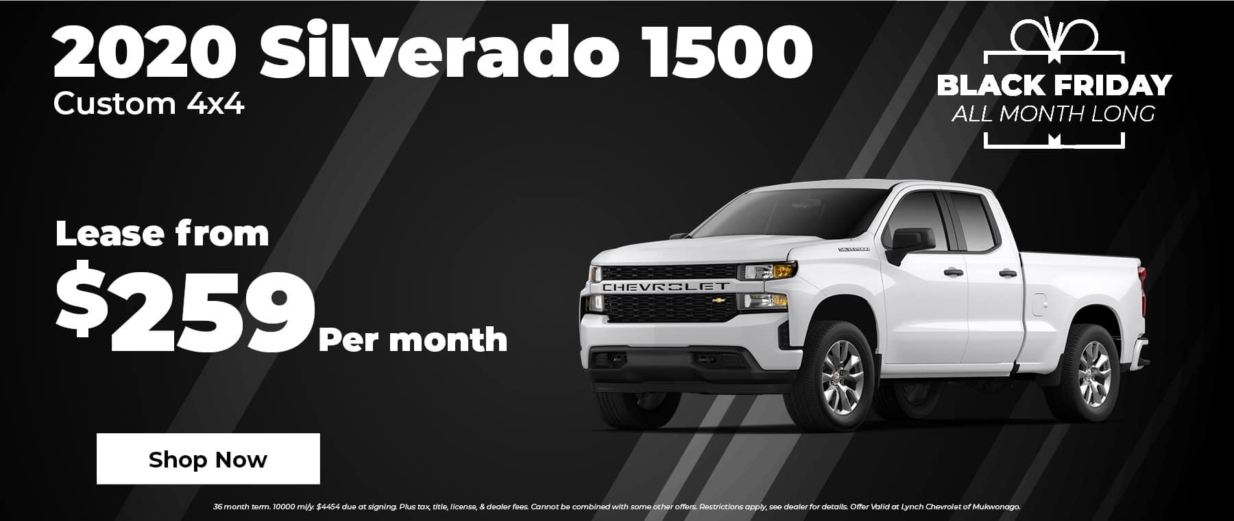 2020 Chevy Silverado $259 per month in Mukwonago Wisconsin