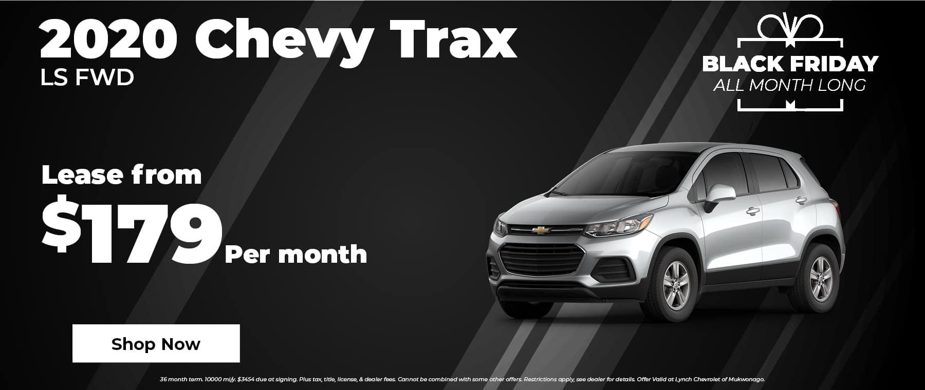 2020 Chevy Trax $179 per month in Mukwonago Wisconsin