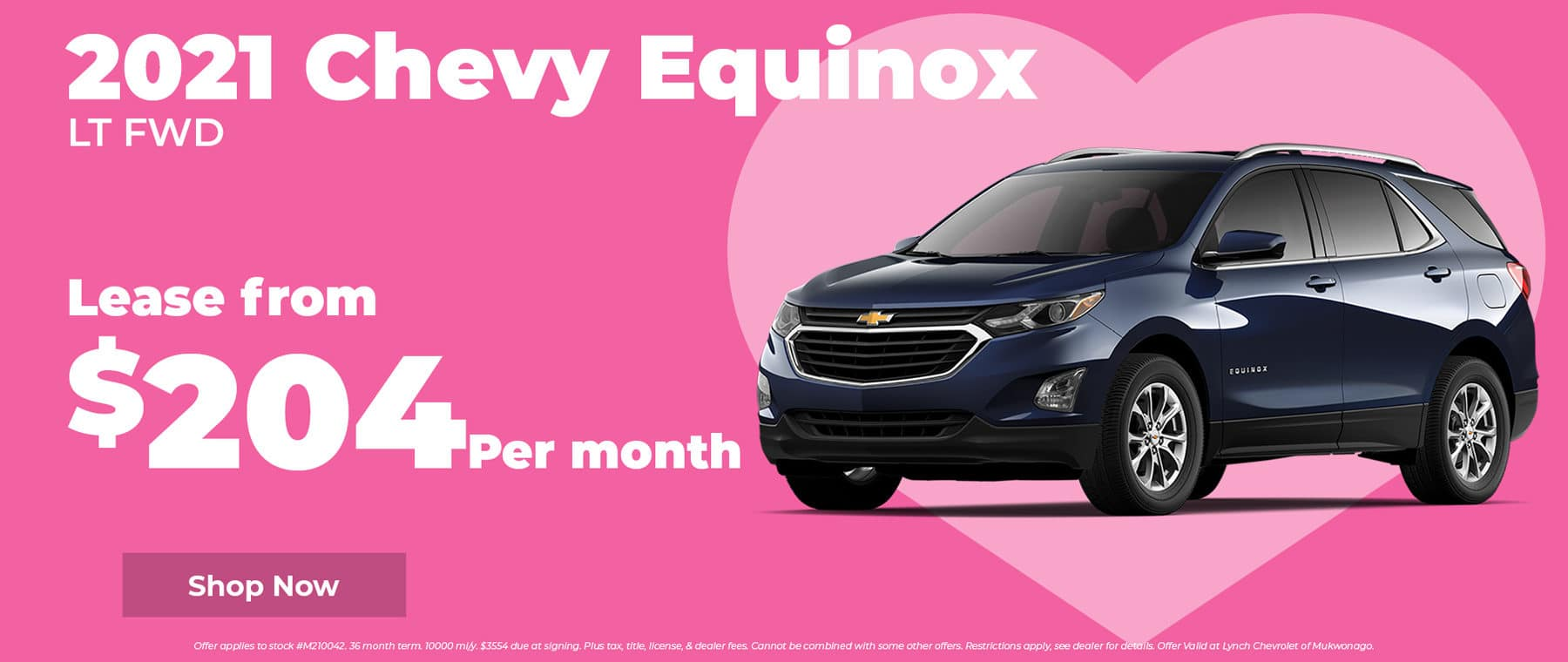2021 Chevy Equinox for $204 per month in Mukwonago WI
