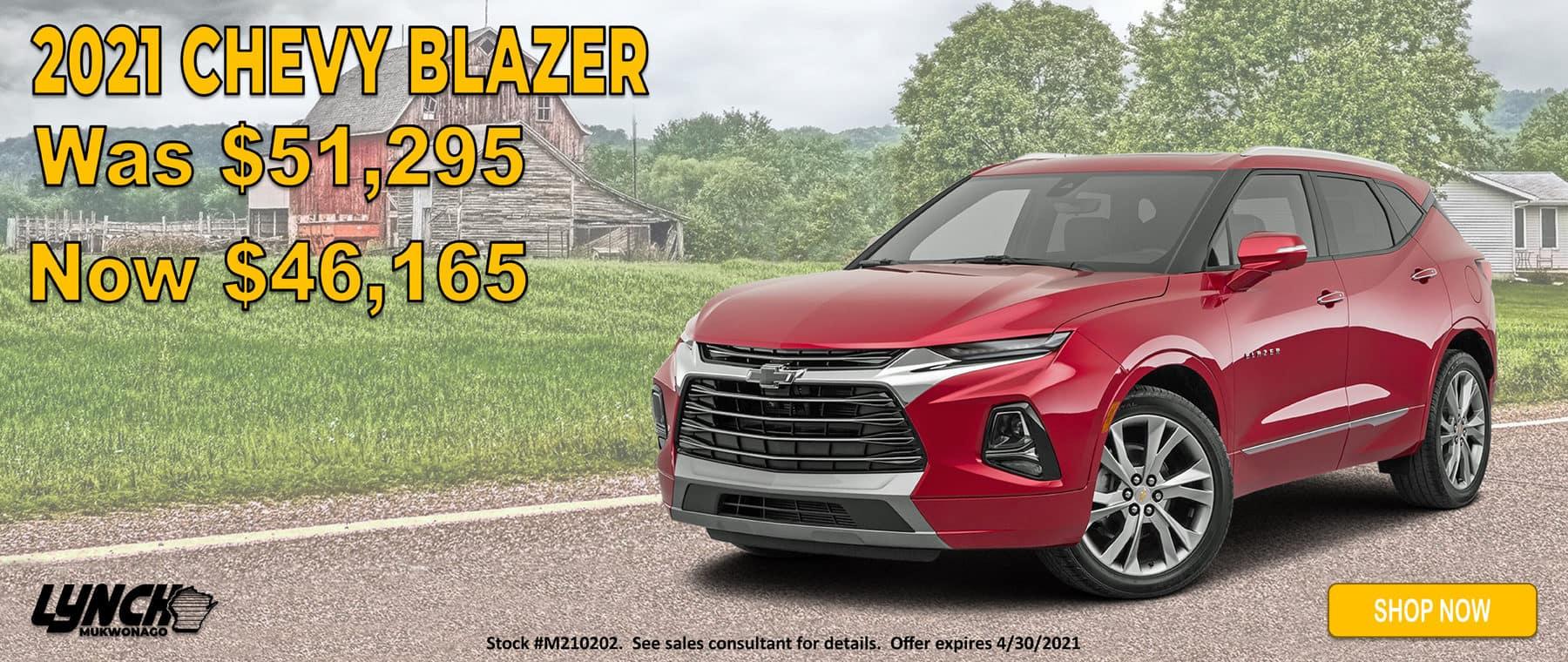 2021 Chevy Blazer on sale in Mukwonago WI