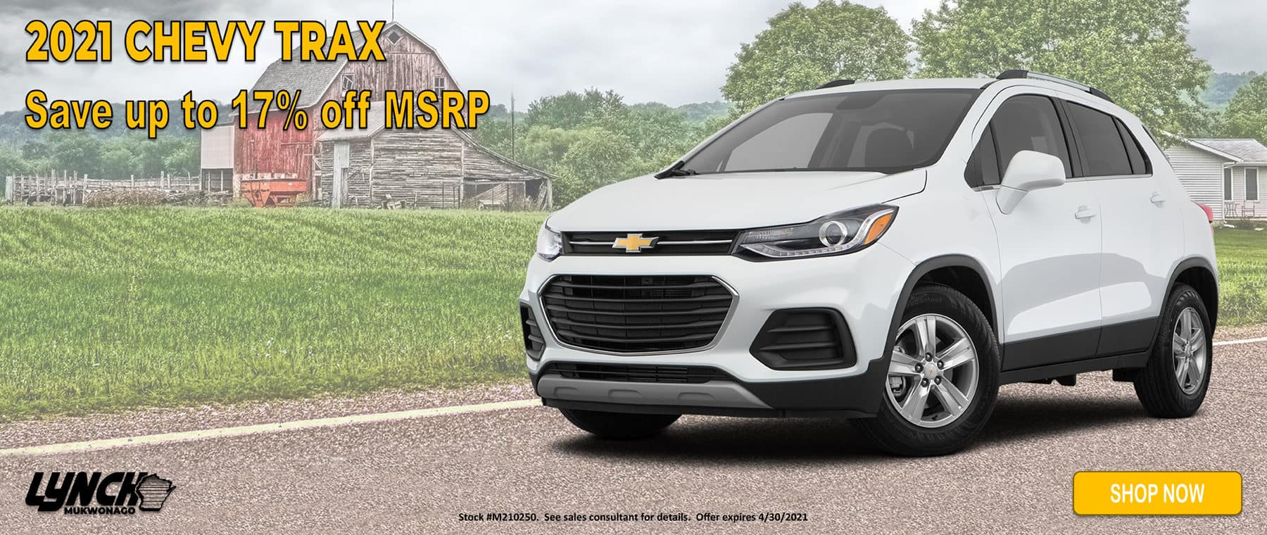 17% Off MSRP on 2021 Chevy Trax in Mukwonago WI