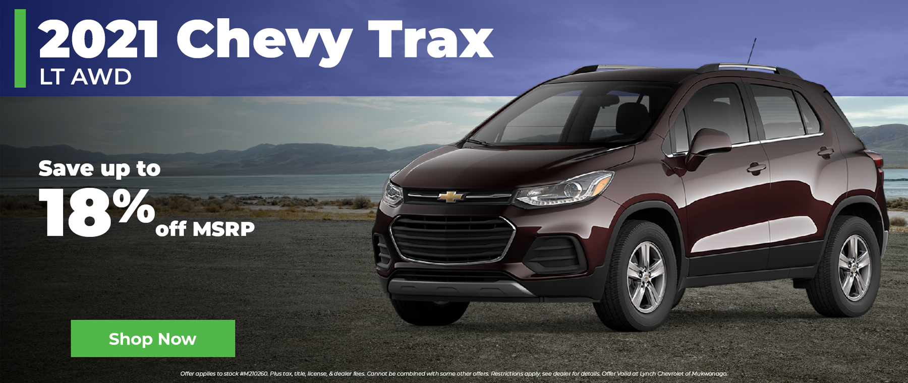 Save 18% off MSRP on a 2021 Chevy Trax in Mukwonago Wisconsin