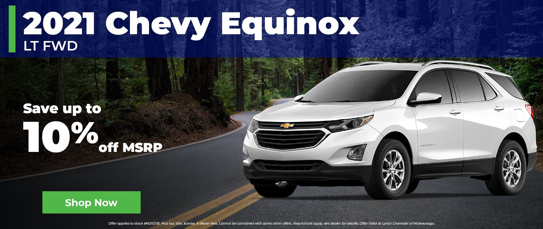 10% Off 2021 Chevy Equinox in Mukwonago Wisconsin
