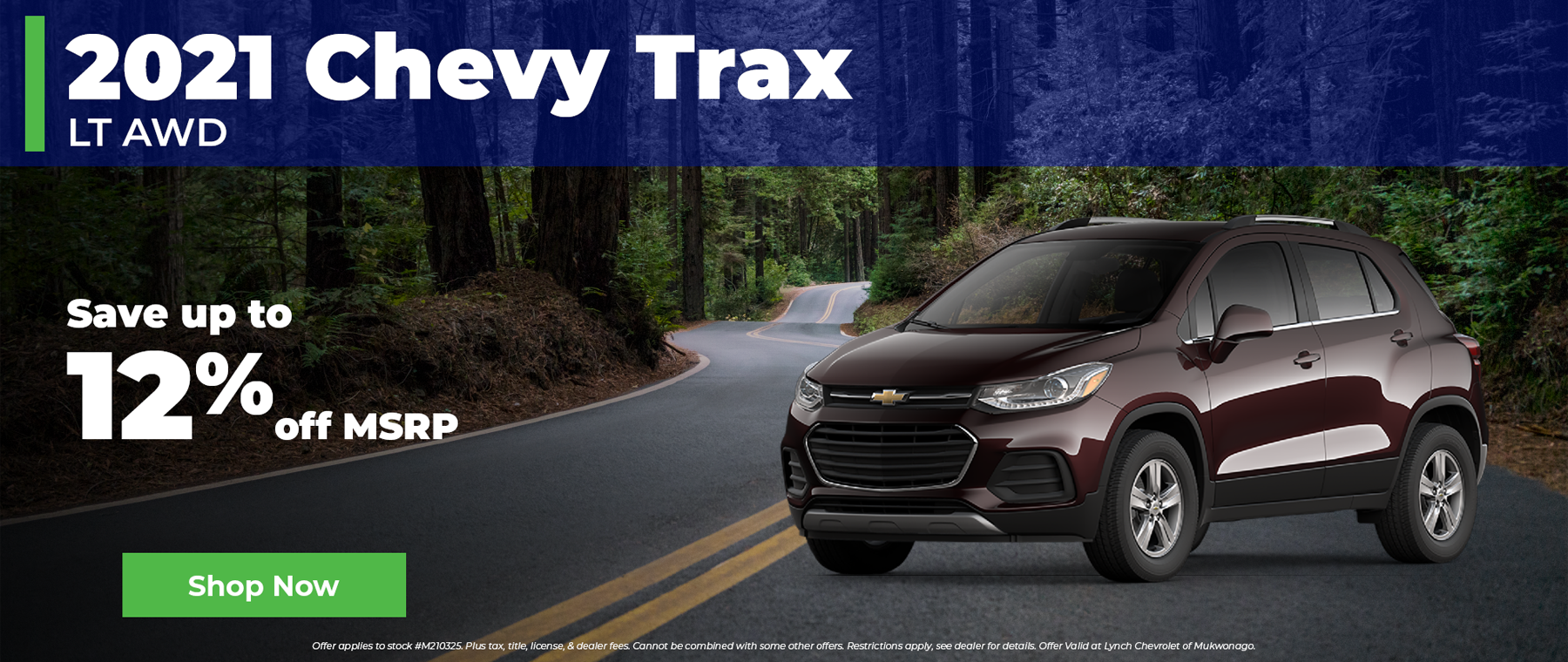 12% off 2021 Chevy Trax in Mukwonago Wisconsin