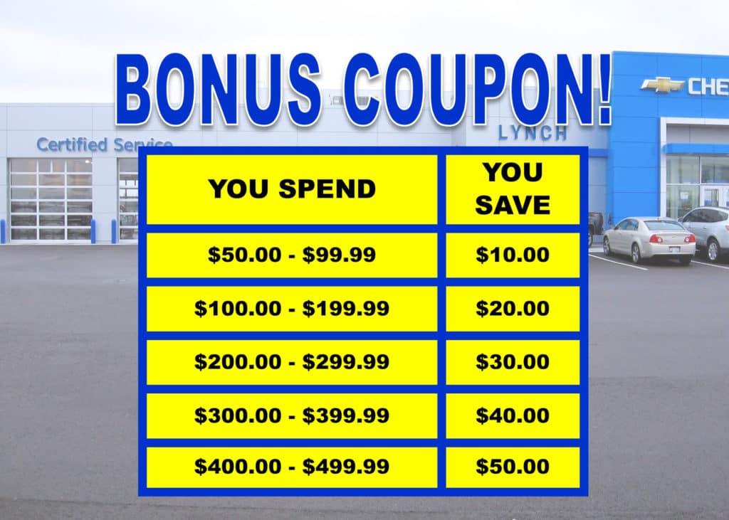 Bonus Spend More Save More