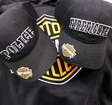 Manchester Harley Police Fire Cap