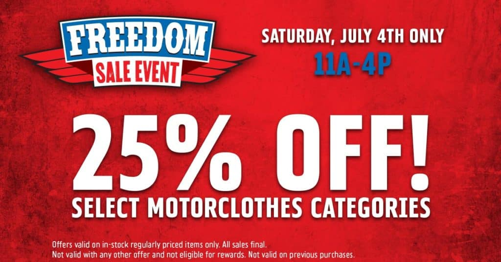 Freedom MotorClothes Sale