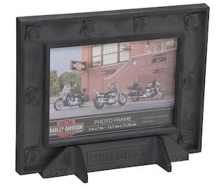 HDX-99185 Harley INDUSTRIAL PEWTER PIC FRAME 5x7