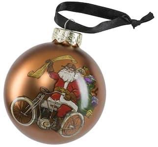 HDX-99194 Harley Santa Ball Ornament