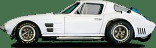 White Classic Sports Car