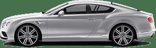 Silver Jaguar Coupe
