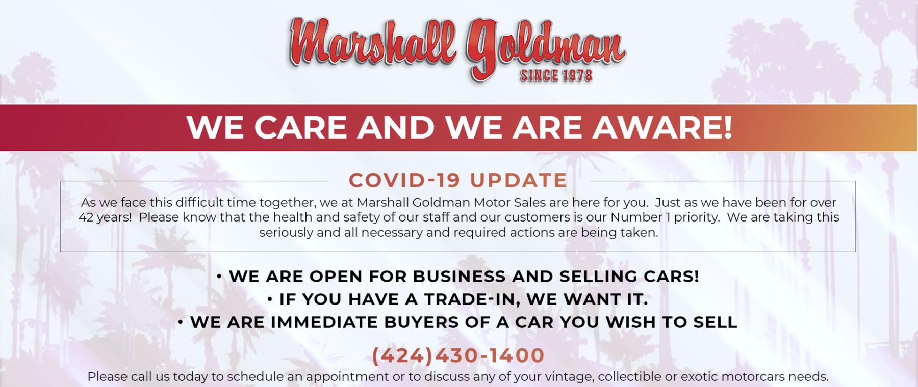 COVID-19 Update at Marshall Goldman Beverly Hills