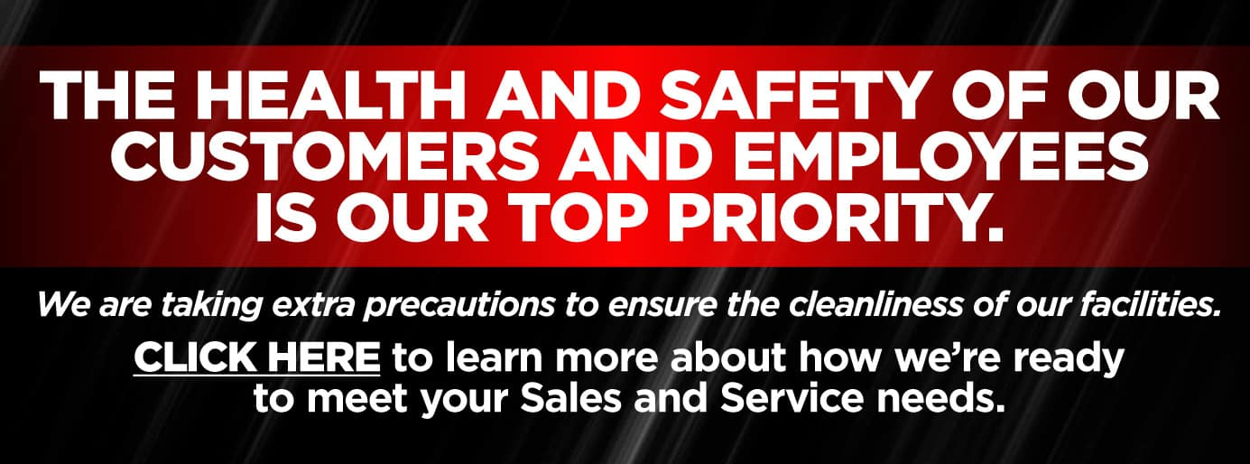 The health and safety of our customers and employees is our top priority