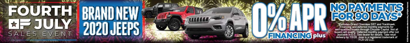 No Payments for 90 Days on Brand New Jeeps | Act Now