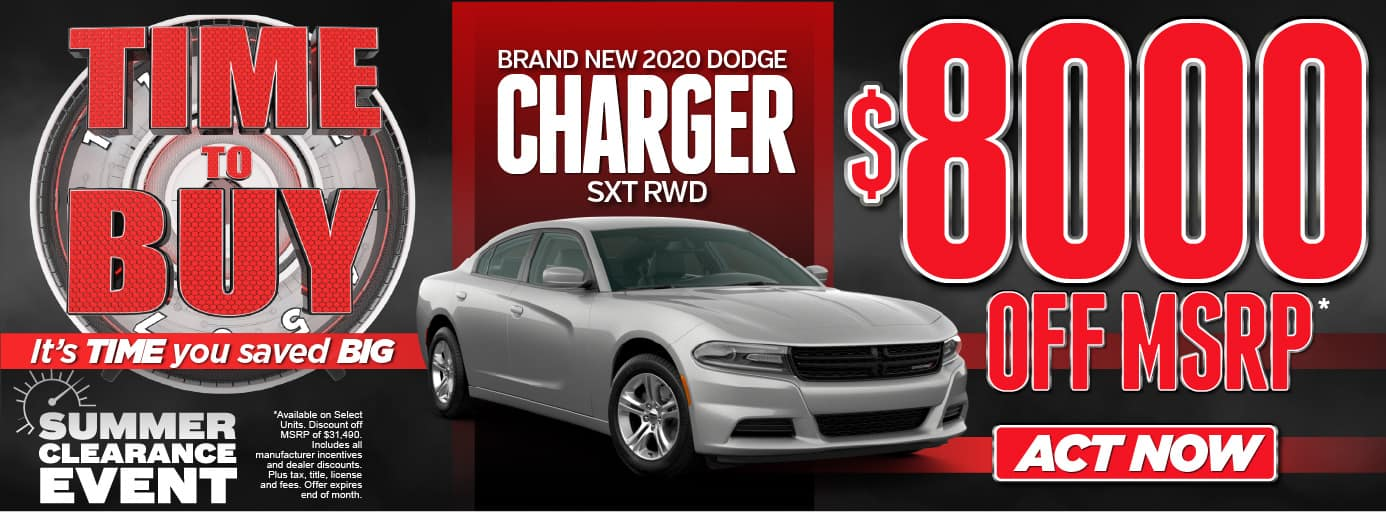 Time To Buy! It's time you saved BIG! Summer Clearance Event-Brand New 2020 Dodge Charger STX RWD -$8000 OFF MSRP* Act Now