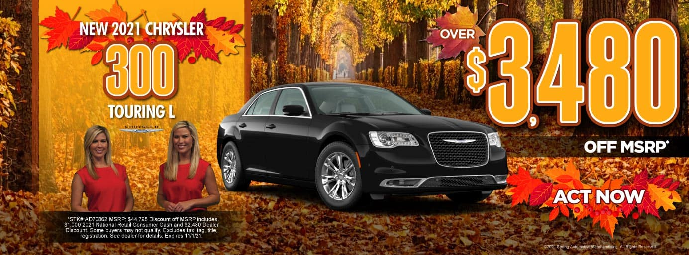 New 2021 Chrysler 300 Touring L - Over $3,480 off MSRP - ACT NOW