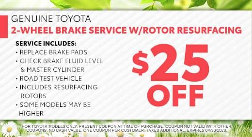 Brake Service at Massey Toyota in Kinston, NC