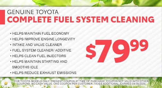 Fuel System Cleaning at Massey Toyota in Kinston, NC