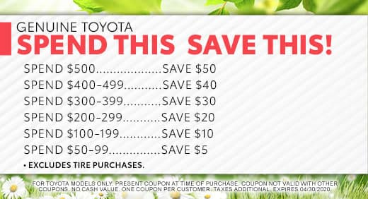 Save on your service at Massey Toyota in Kinston, NC