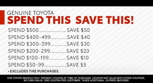 Spend This, Save This at Massey Toyota!