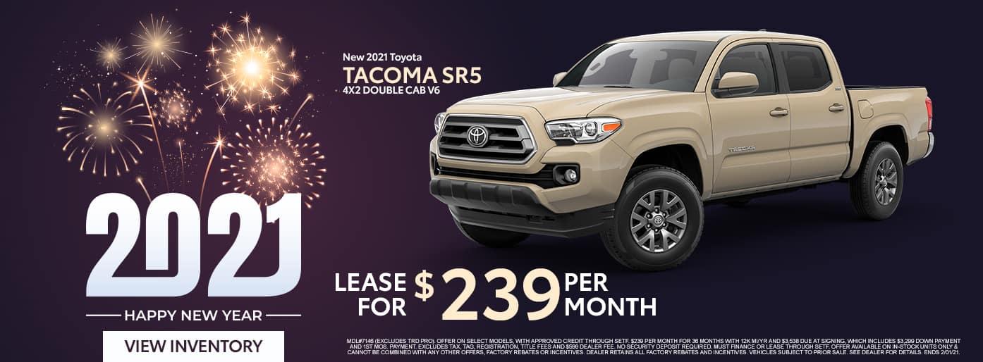 New 2021 Toyota Tacoma SR5 4X2 Double Cab V6