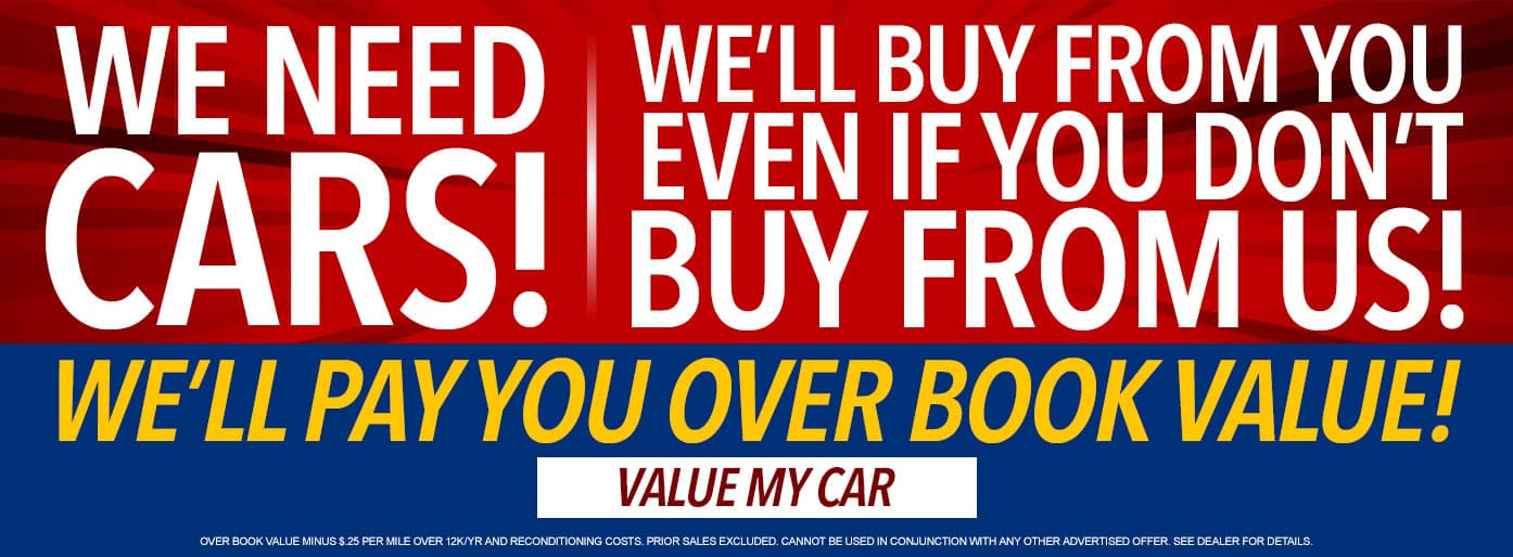 We Need Your Car at Massey Toyota!