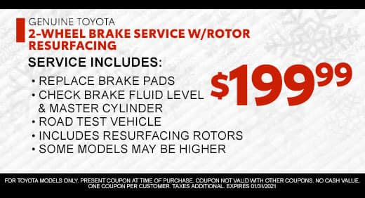 Brake Service with Rotor Resurfacing