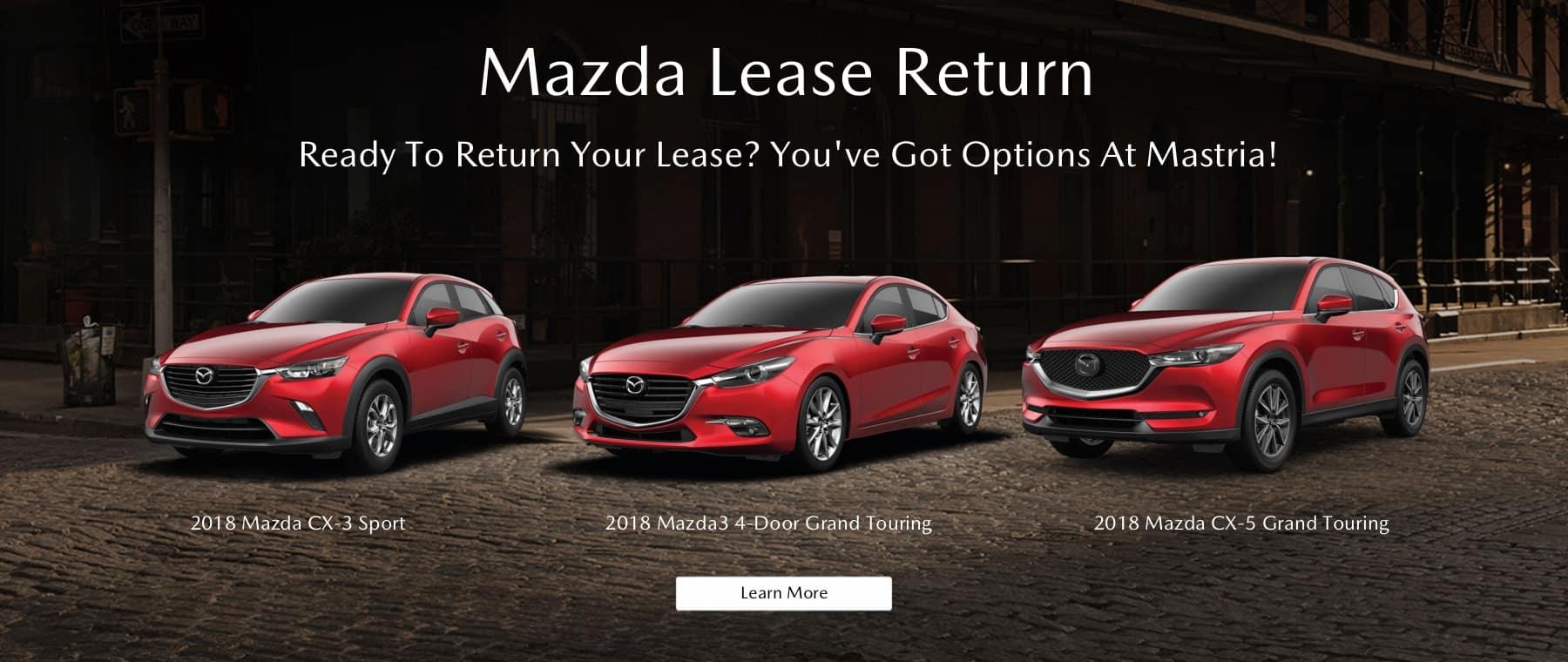 2018 Mazda Line Up