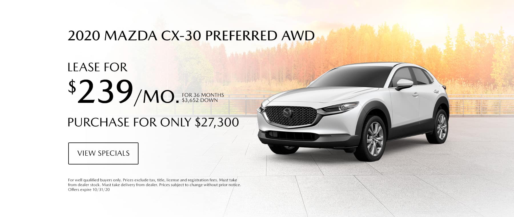 CX30 October Lease Offer