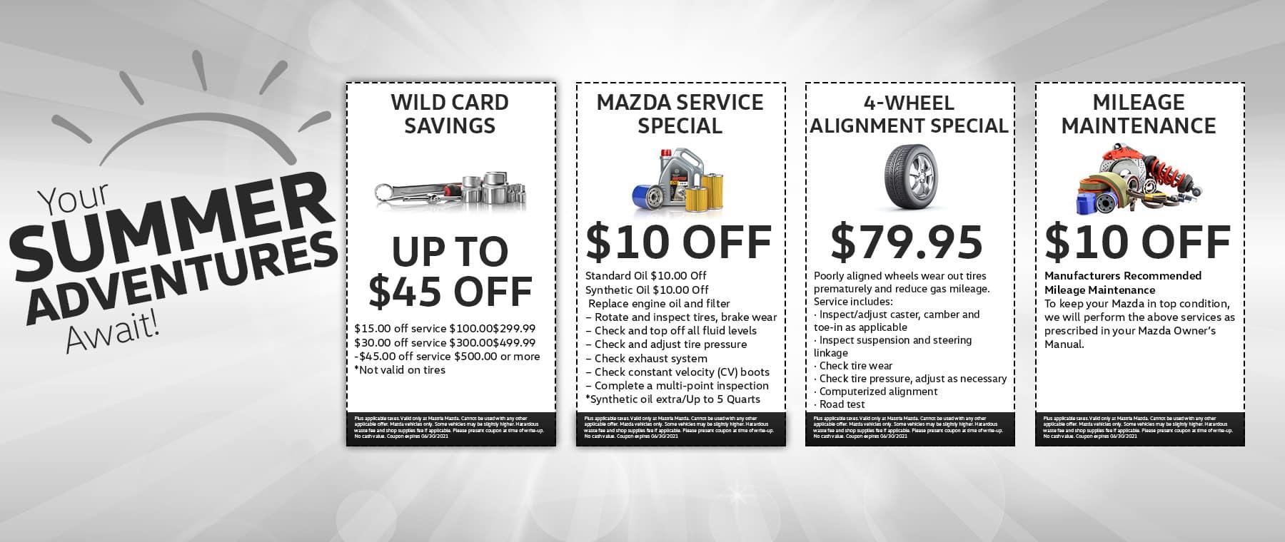Mazda summer june service deals