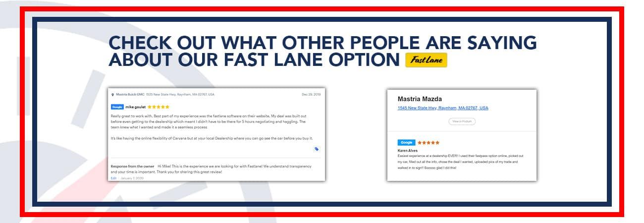 Fast Lane Customer Specials
