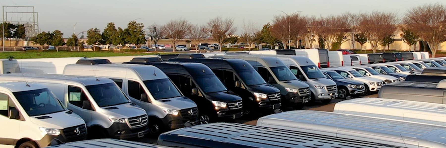 Inventory vans lot