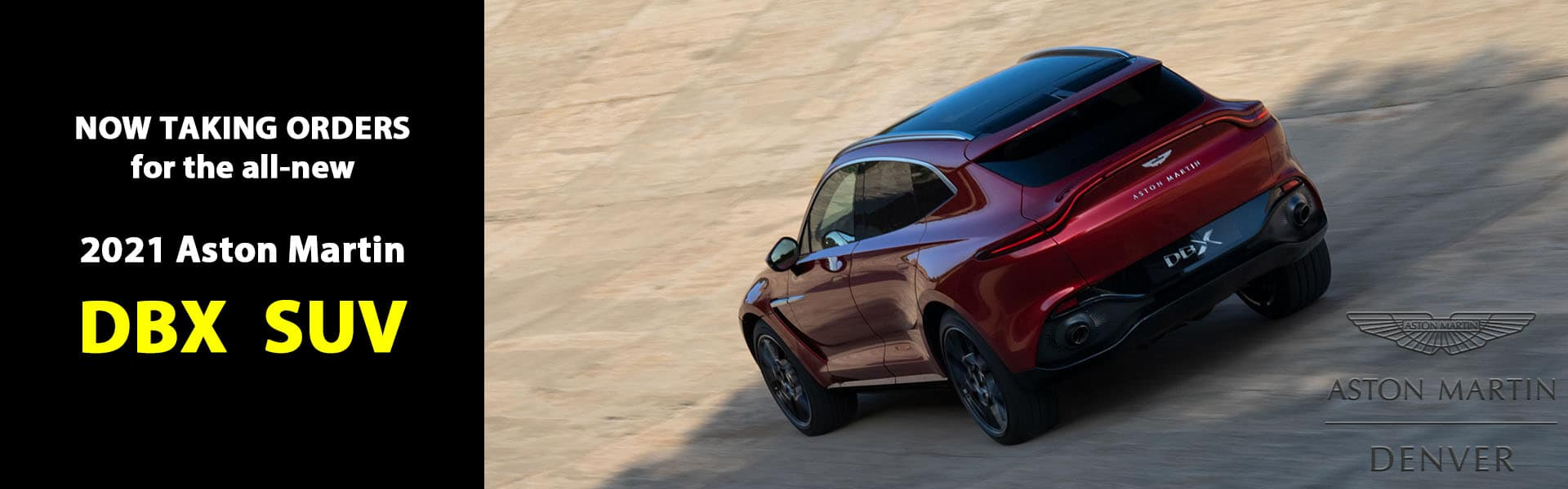 Now Taking Orders for the 2021 Aston Martin DBX SUV
