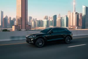 All-New Aston Martin DBX SUV in the city