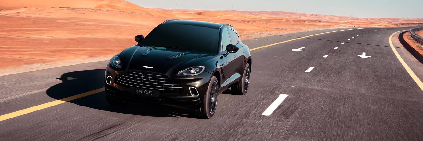 Aston Martin DBX on the road