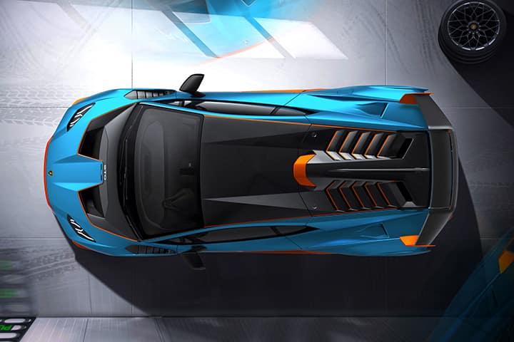 2021 Lamborghini Huracan STO top view