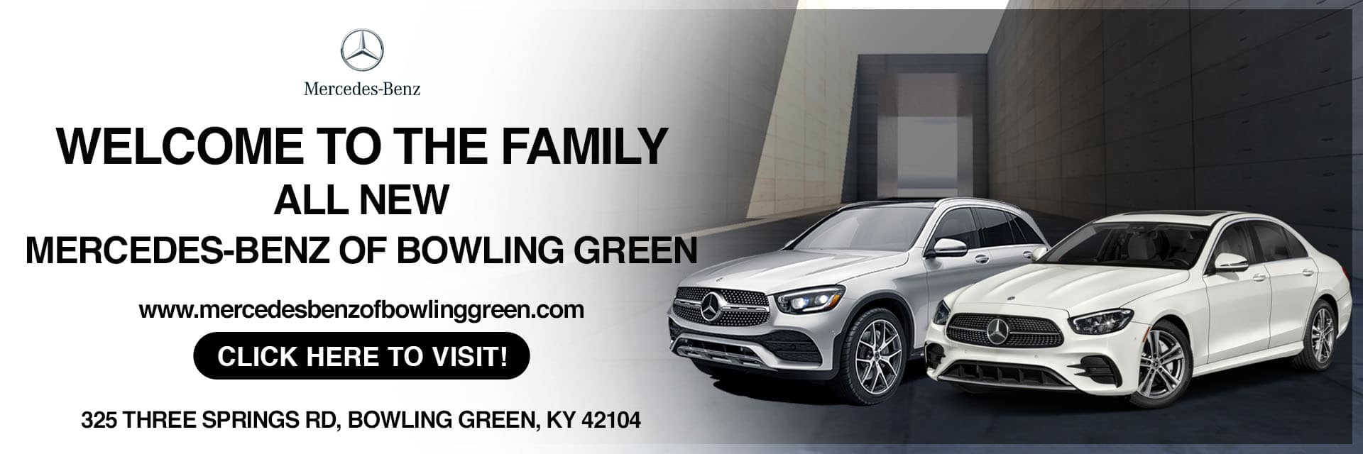 Now Open SliderMercedes-Benz of Bowling Green