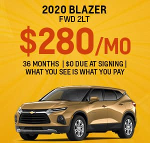 Chevy Blazer Best Lease Special for September 2020