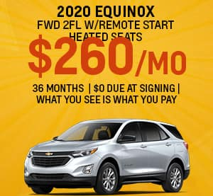 Chevy Equinox Best Lease Special for September 2020