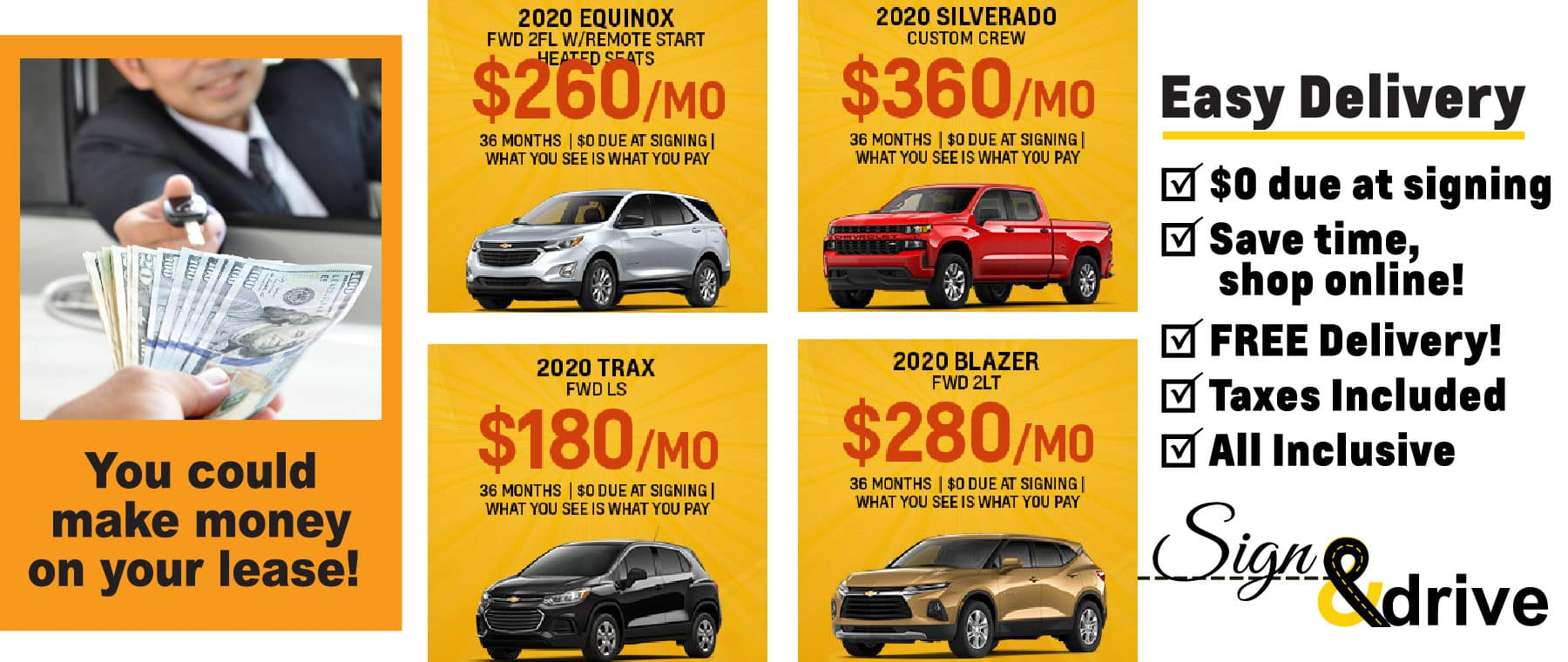 Chevy Best Lease Special for September 2020