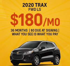 Chevy Trax Best Lease Special for September 2020