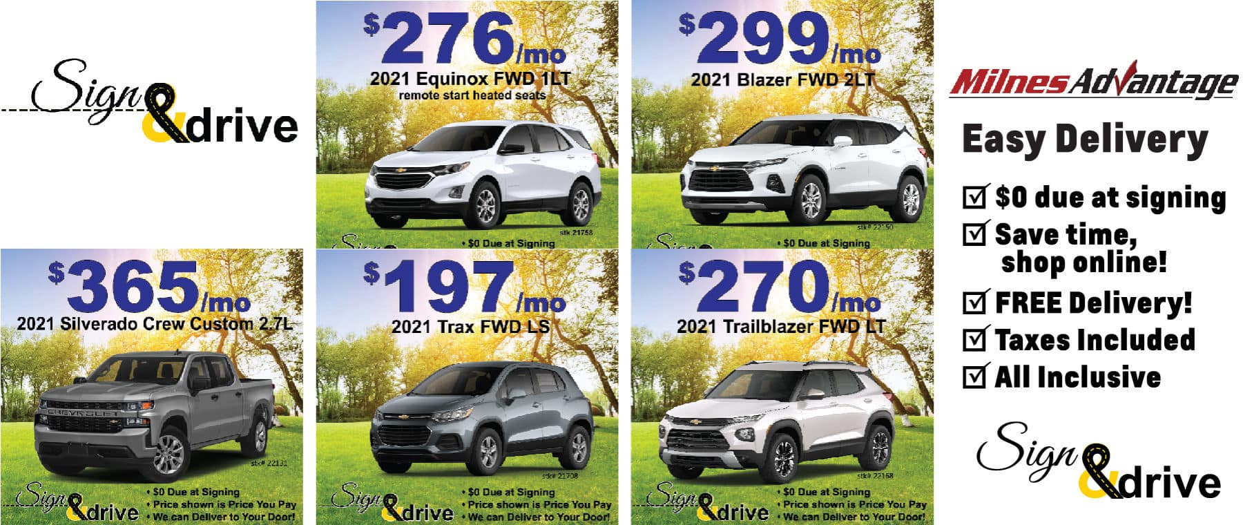Chevy April Lease Specials Near Me