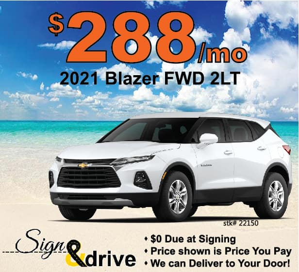Blazer Lease Special May 2021