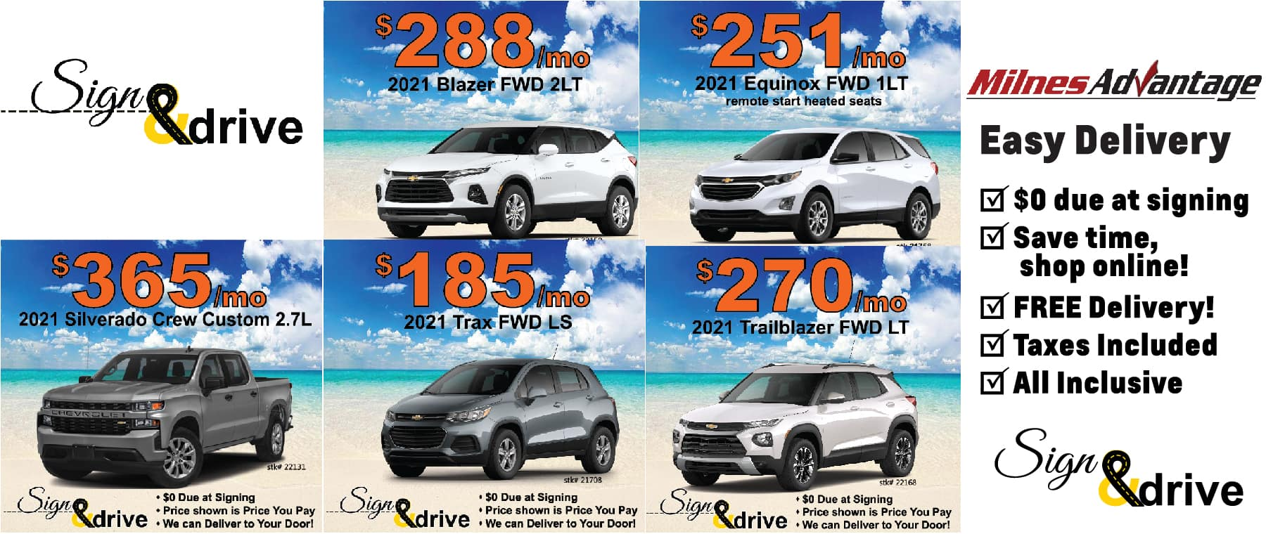 Chevy Lease Special May 2021
